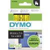 Dymo D1 Label Cassette Tape 24mmx7m Black on Yellow