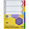 Marbig Plastic Divider A4 Reinforced 5 Tab Multi Colour
