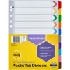 Marbig Plastic Divider A4 Reinforced 10 Tab Multi Colour
