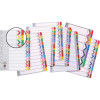 Marbig Plastic Divider A4 Reinforced 1-20 Tab Multi Colour