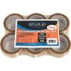 Vibac PP30R Packaging Tape 48mmx75m Clear Pack of 6