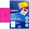 Avery High Visibility Shipping Laser Labels L7167FP 199.6x289 Pink 25 Labels, 25 Sheets