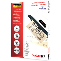Fellowes Imagelast Laminating Pouch A3 125 Micron Pack of 100