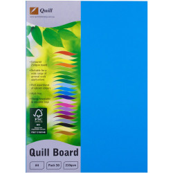 Quill Board A4 210gsm Marine Blue Pack of 50