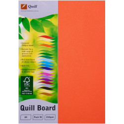 Quill Board A4 210gsm Orange Pack of 50