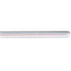 STAEDTLER TRIANGULAR SCALE RULERS - 300MM 2AS DIN 1:20 25 331/3 50 75