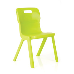 Titan Stackable Student Chair 310mm High Suits Age 3-5 Lime Shell