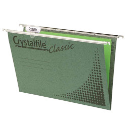 Crystalfile Suspension Files Enviro Foolscap With Tabs & Inserts Box Of 50
