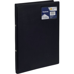 Marbig Professional Flexi Binder Soft Cover 2 Ring 20mm Black
