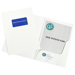 Marbig Professional Series Presentation Folders A4 Window Gloss Pack Of 10