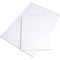 OFFICE PADS BANK OLYMPIC A5 210x148mm Plain White